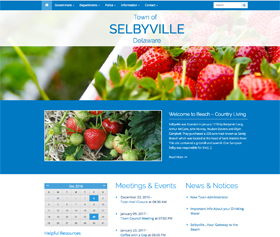 Image of the Town of Selbyville's new responsive website