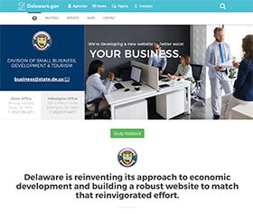 Image of the Division of Small Business, Development & Tourism's new CLF4 website