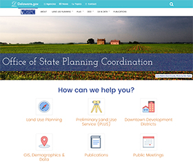 Image of the Office of State Planning Coordination's new CLF4 website