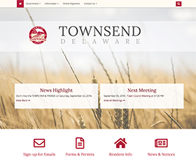 Image of Townsend Delaware's new responsive website