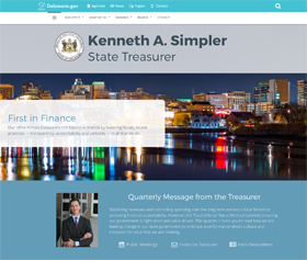 Image of the Delaware State Treasurer's new CLF4 website