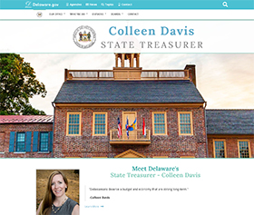 Image of the State Treasurer's new CLF4 website