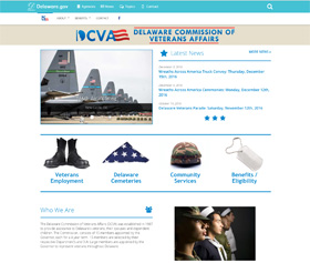 Image of the Delaware Commission of Veterans Affairs's new CLF4 website