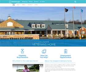 Image of the Delaware Veterans Home CLF4 website