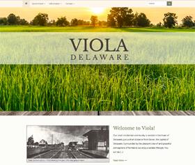 Image of Viola Delaware's new responsive website