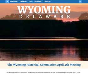 Image of the new Wyoming Delaware responsive website