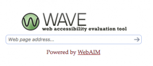 Photo of the WAVE Tool Home Page