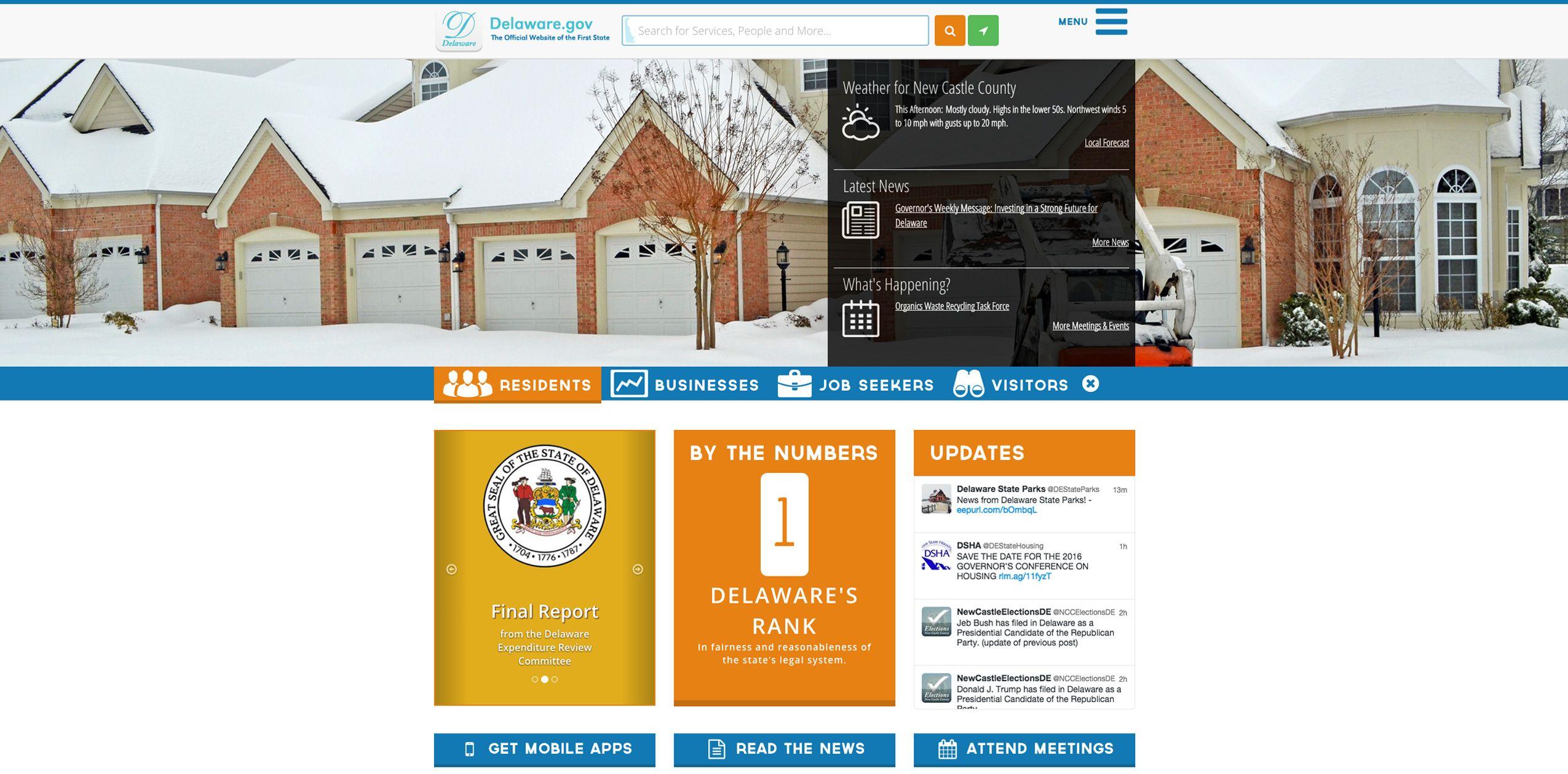 The Delaware State Web Portal