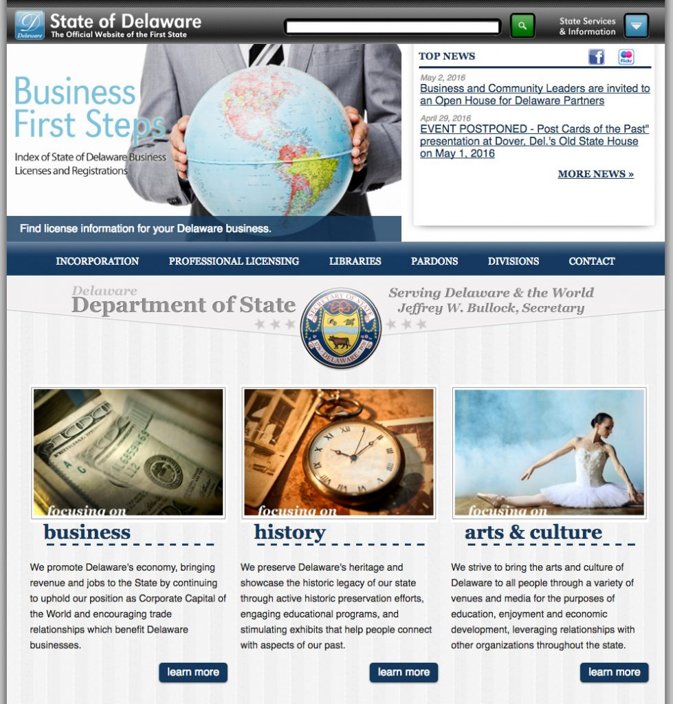 Department of State Common Look & Feel 3 Website