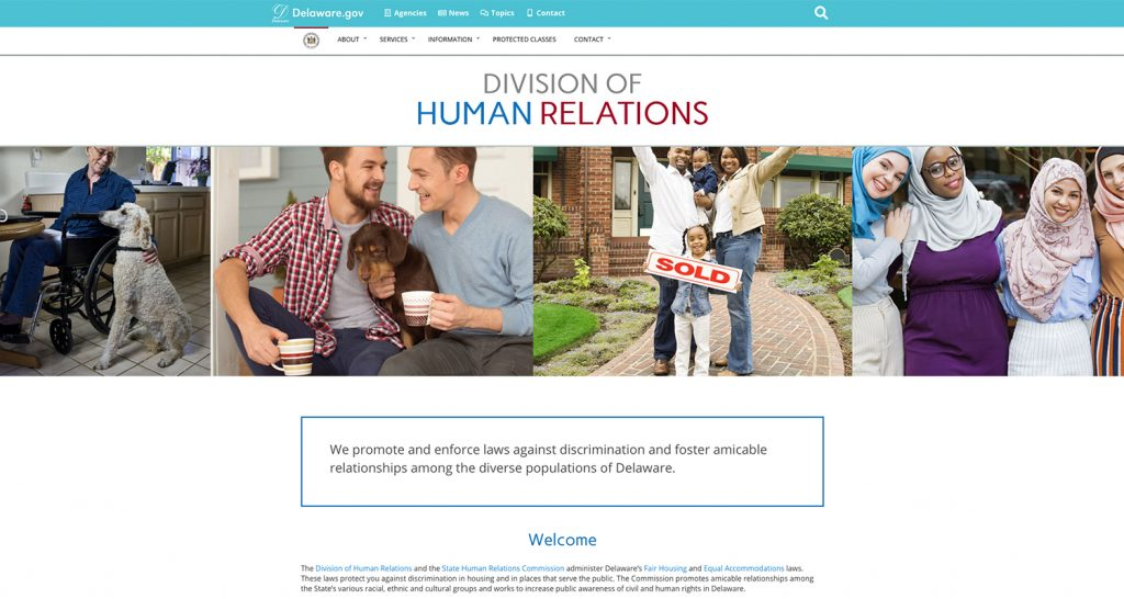 Image of the Division of Human Relations homepage