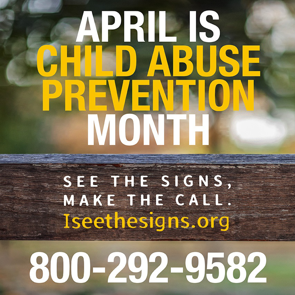 Image of fence post up close for Child Abuse Prevention Month