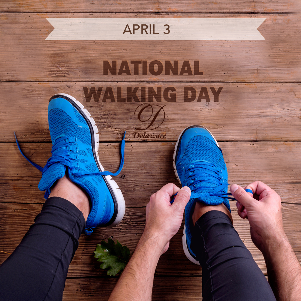 Image of a runner putting on shoes for National Walking Day
