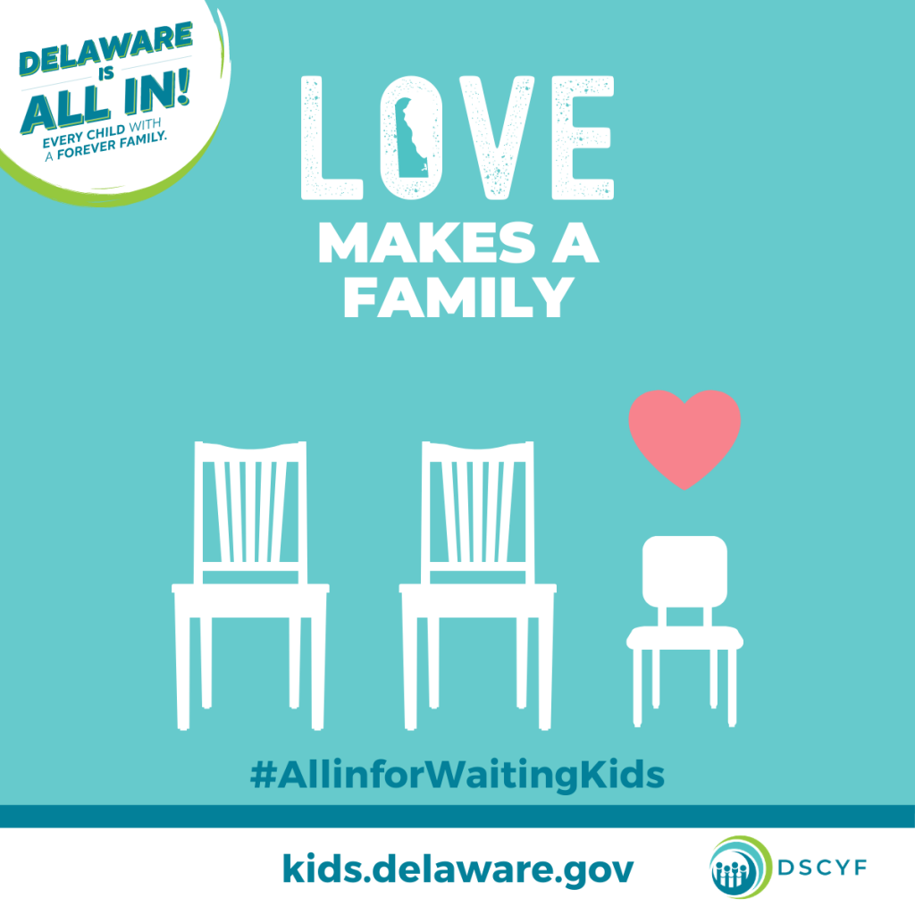 Love makes a family - KIDS Social Graphic