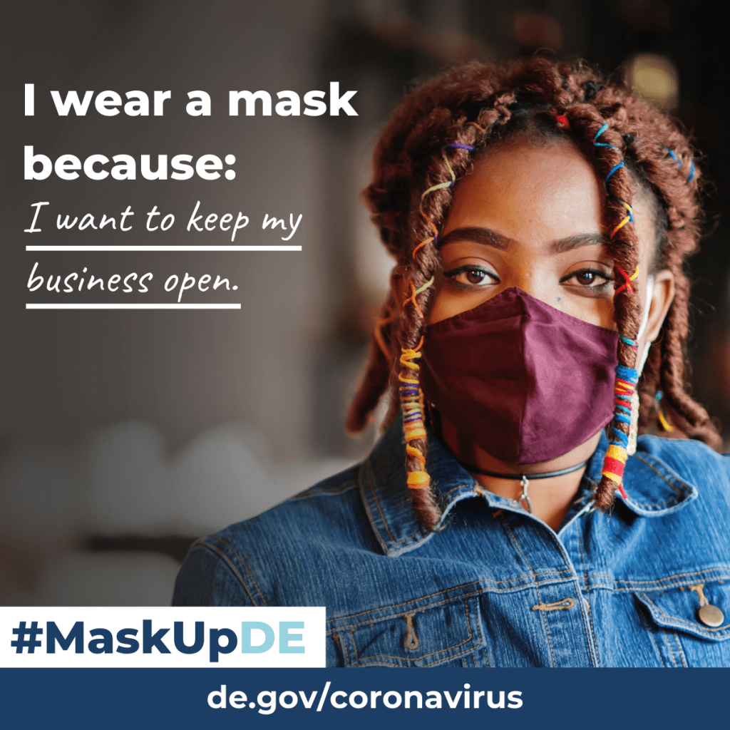 I wear a mask because I want to keep my business open