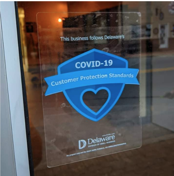 COVID-19 Protection Standards Window Cling