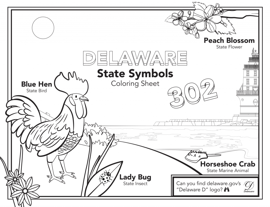 State of Delaware Coloring Sheet