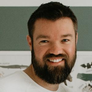 Wade Stimeling, Livestream producer smiling.
